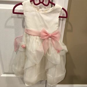 Beautiful white and pink toddler dress